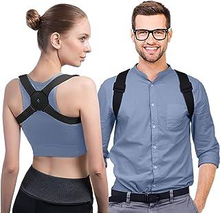 konjac Corrector de Postura Espalda Inteligente con Vibración para Hombre y Mujer, Corrector de Postura Inteligente. Negro.