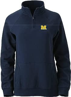 Ouray Sportswear NCAA Michigan Wolverines Women's Dee-lite 1/4 Zip, Navy, X-Large