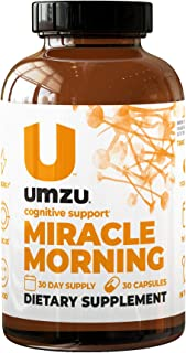 UMZU: Miracle Morning – Natural Energy Boosting Supplement - Improve Focus, Productivity & Cognitive Performance with This Caffeine-Free Alternative - 30 Day Supply