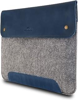 MegaGear äkta läder och fleece Macbook väska för 15 & 16 tum