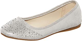 Angie-53 Women's Classic Pointy Toe Ballet PU Slip On Suede Flats