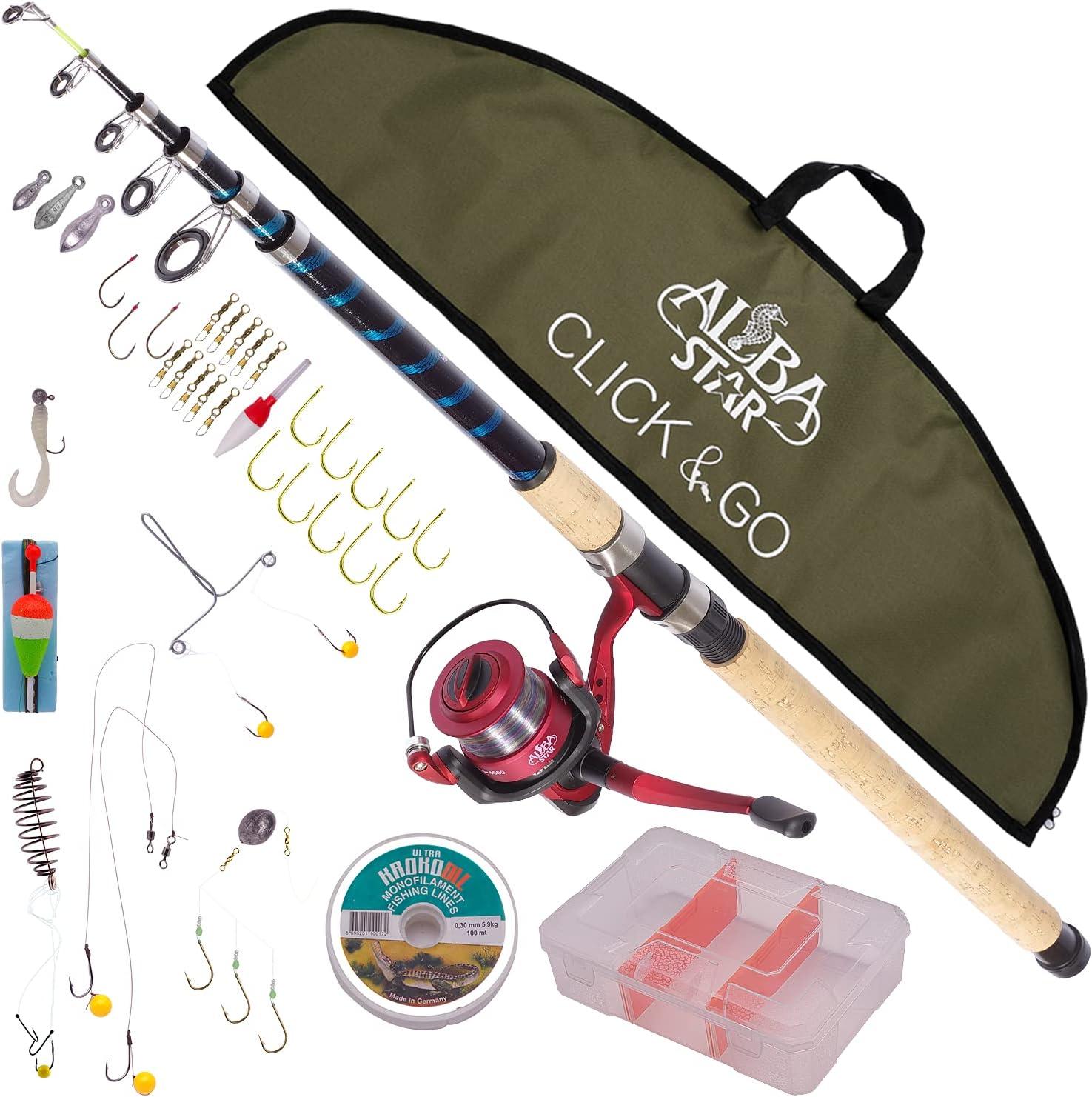 Alba Topics on TV Star Arlington Mall Click Go Professional Fishing Rod and Combo Set Reel