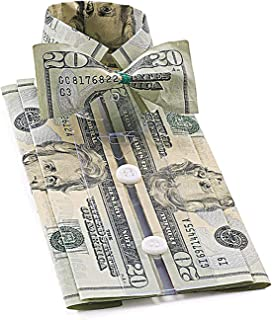 Bandwagon Cash Gift Shirt with Bowtie Origami Money Holder Kit - Includes Gift Bag and Card - Set of 2