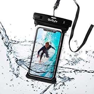 PREMIUM BixByte Waterproof Phone Pouch, Floating phone bag. Compatible with all Smartphones: iPhone 11/11 Pro, iPhone X Xs...