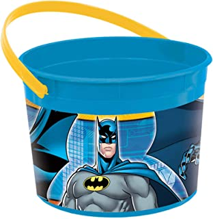Amscan Batman Favor Container - 261386, Blue