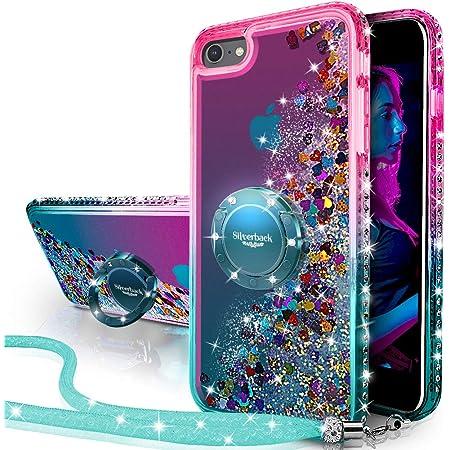 Miss Arts Coque iPhone 6S Plus,Coque iPhone 6 Plus,[Silverback] Fille Silicone Paillette Strass Bling Glitter de Luxe avec Support,Liquide Gel Housse ...