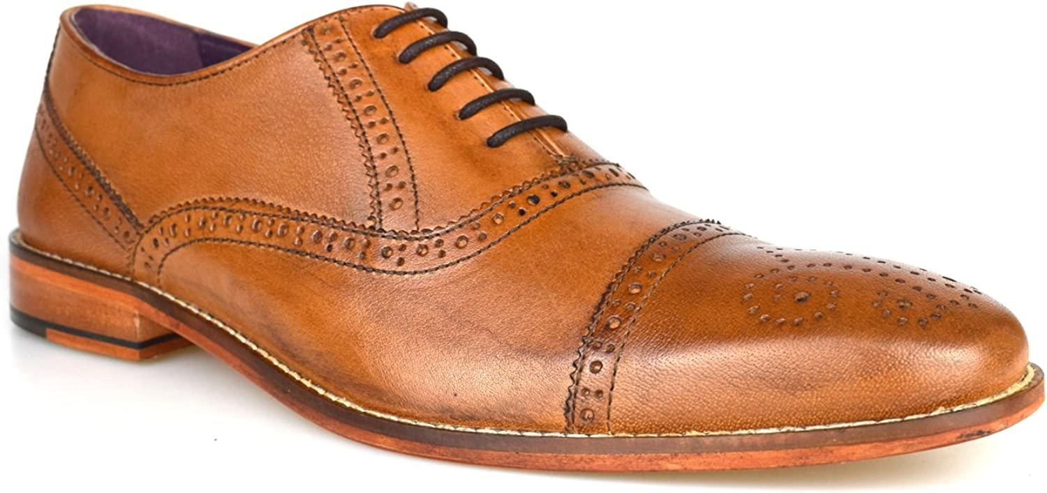 Gucinari castello Tan Leather Formal Brogue shoes AMP-008