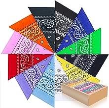 PITAYA Pañuelos Bandanas de Modelo de Paisley para Cuello/Cabeza Multicolor Múltiple para Mujer y Hombre