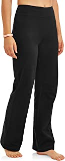 Women's Bootcut Fit Dri-More Core Cotton Blend Yoga Pants Available in Regular and Petite