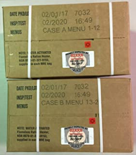 MRE 2020 Inspection Date Case, 24 Meals with 2020 Inspection Date, 2017 Pack Date A and B Case. Military Surplus Meal Read...