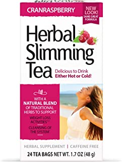 21st Century Slimming Tea, Cran Raspberry, 24 Count