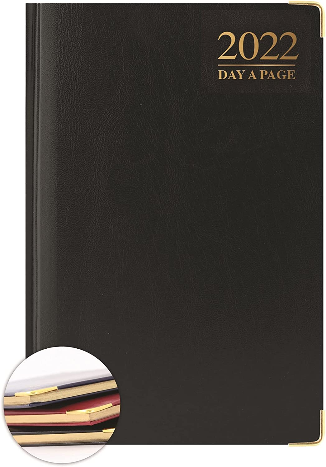 2021 A4 Day A Page Diary Padded with Metal Corners Red Business ...