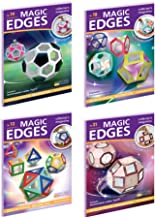Magic Edges. Polyhedra 3D Paper Model Kits. Set #7. Platonic and Archimedean Polyhedra