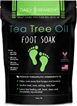 Tea Tree Oil Foot Soak with Epsom Salt - Made in USA - for Toenail Fungus, Athletes Foot, Stubborn Foot Odor Scent, Fungal, Softens Calluses & Soothes Sore Tired Feet 16 oz