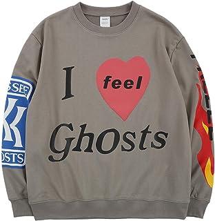 Niuqionly Men's Kanye Lucky Me I See Ghosts Sweatshirts Trendy Hip Hop Heavyweight Hoodie Womens