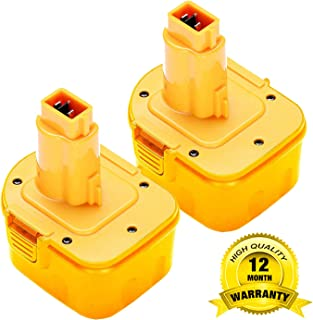 2Pack 3600mAh 12V DW9071 for Dewalt Replacement Battery, Ni-HM Battery for Dewalt DW9072 DC9071 DE9037 DE9071 DE9072 DE9074 DE9075 152250-27 397745-01 Cordless Tool Battery
