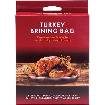 HIC Harold Import Co. Turkey Brining Bag, Holds 20-Pound