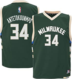 Outerstuff Giannis Antetokounmpo #34 Milwaukee Bucks Youth Road Jersey Green