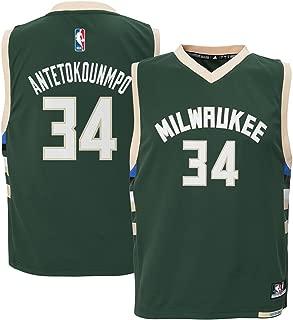 Outerstuff Giannis Antetokounmpo #34 Milwaukee Bucks Youth Road Jersey Green