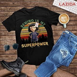 LAZIDA Mrs Hogenson Quote Sewing Is My Superpower Funny Cartoon Character T-Shirt | Hoodie | Tank Top | Sweatshirt | Long Sleeve