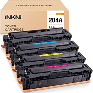 INKNI Compatible Toner Cartridge Replacement for HP 204A CF510A CF511A CF512A CF513A Used in Color Laserjet Pro MFP M180nw...