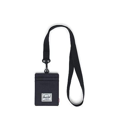 Herschel Supply Co. Charlie Wallet Lanyard RFID (Black Lanyard/Black) Wallet Handbags