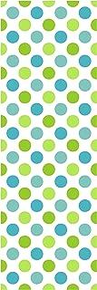 Locker Designz Deluxe Magnetic Locker Wallpaper, Polka Dot Cool (Blue/Green)