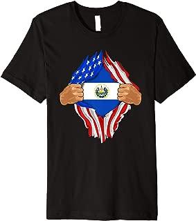 Salvadoran Blood Inside Me T-Shirt   El Salvador Flag Gift