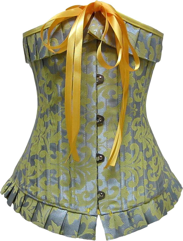 EseFGJK Women's Retro Waist Belt Print Elastic Lace-Up Adjustable Corset Waistband Shapewear