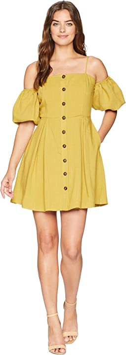 Cold Shoulder Button Up Dress