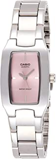 Casio Women's Pink Dial Stainless Steel Analog Watch - LTP-1165A-4CDF