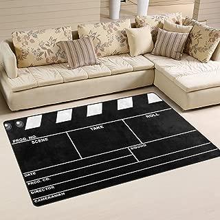 ALAZA Classic Movie Clapboard Black Area Rug Rugs Non-Slip Floor Mat Doormats for Living Room Bedroom 60 x 39 inches