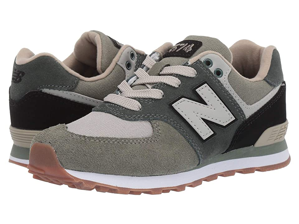 New Balance Kids PC574v1 (Little Kid) (Faded Rosin/Black) Boys Shoes