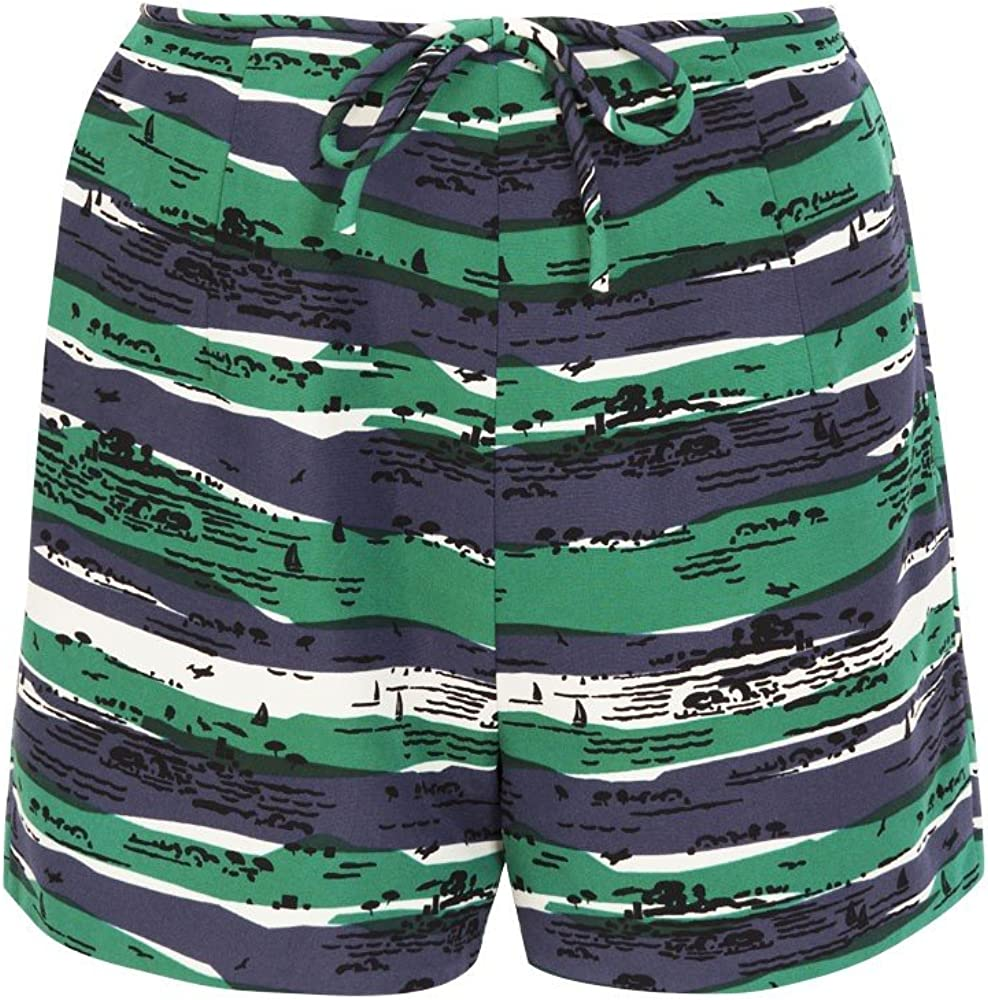 Solid Ottoman Shorts Seaview New mail order Max 42% OFF Print