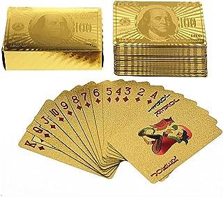 54feuilles plaqués or Jeu Cartes cartes de poker skat