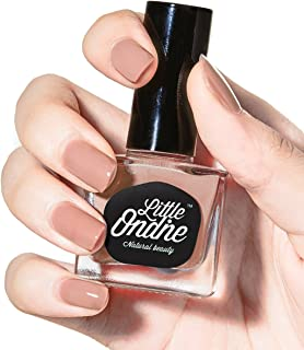 Little Ondine Peel off Fast Dry Zero Smell Non-toxic Natural Nail Polish,Nudes (L066-Cuddle)