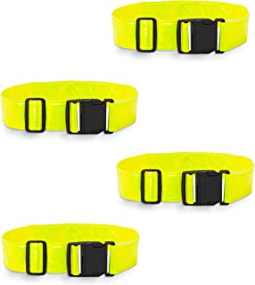 Best2go - 4 Pack - Reflective Glow Belt Safety Gear, Pt Belt, for Running Cycling Walking Marathon Military.