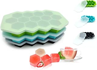 CXRYJXCJ ice cube trays 3 Pack, 39 Compartment honeycomb shape ice and flexible and easy to release silicone ice mold, wit...
