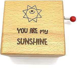 Carillon in legno di faggio inciso. Canzone: You are my sunshine