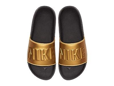 Nike OffCourt Slide (Anthracite/Metallic Gold/Black) Women