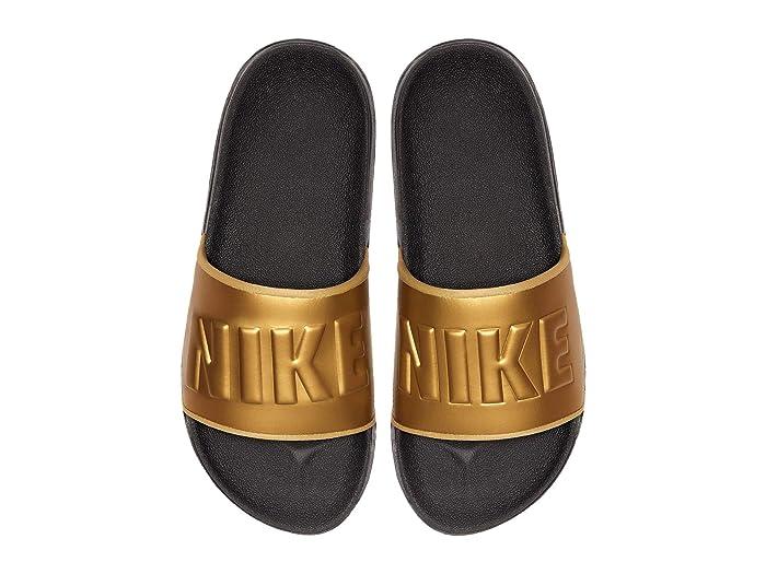 nike slides women gold