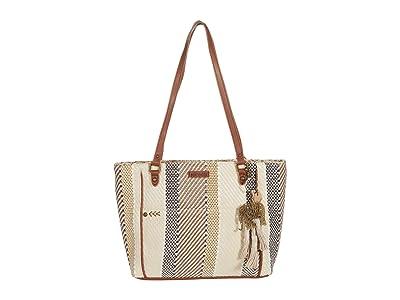 Sakroots Metro Tote (Tobacco Batik Woven) Handbags