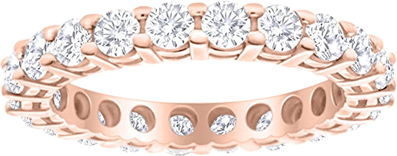 Max 64% OFF 2 Carat ctw 14K White Gold Weddi Eternity Ladies lowest price Round Diamond