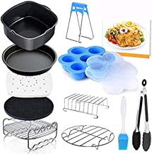 Deep Fryer Parts & Accessories Set of 12 Fit all 3.7Qt, 4.2Qt Air Fryer, BPA Free, Dishwasher Safe, Nonstick Coating