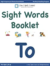 'To' - Sight Words Booklets for Kindergarten, 1st Grade & Dyslexia: High Frequency words | Dolch List | Phonics-based words