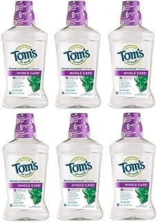 Tom's of Maine Whole Care Mouthwash طبیعی ، نعناع نعناع ، 16 اونس ، 6 تعداد