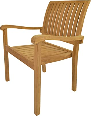 Anderson Teak 4 Piece Aspen Stackable Fully Built Armchair, Dupione Bamboo