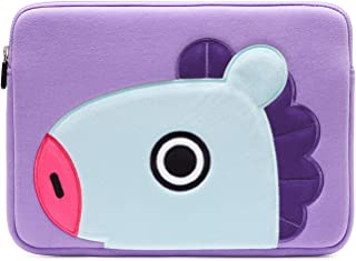 """BT21 Official BTS Merchandise by Line Friends - 13 Inch Laptop Sleeve Case Compatible with MacBook, iPad Pro, and 13"""" Notebooks (Purple)"""