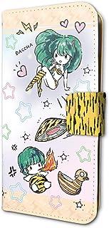 うる星やつら 01 ラム&テン(グラフアートデザイン) 手帳型スマホケース iPhone6/6S/7/8兼用