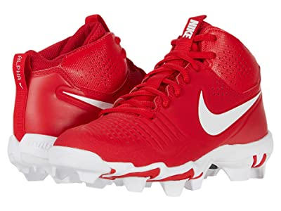 Nike Kids Alpha Huarache 3 Keystone BG Baseball (Toddler/Little Kid/Big Kid) (University Red/White/Gym Red) Kid